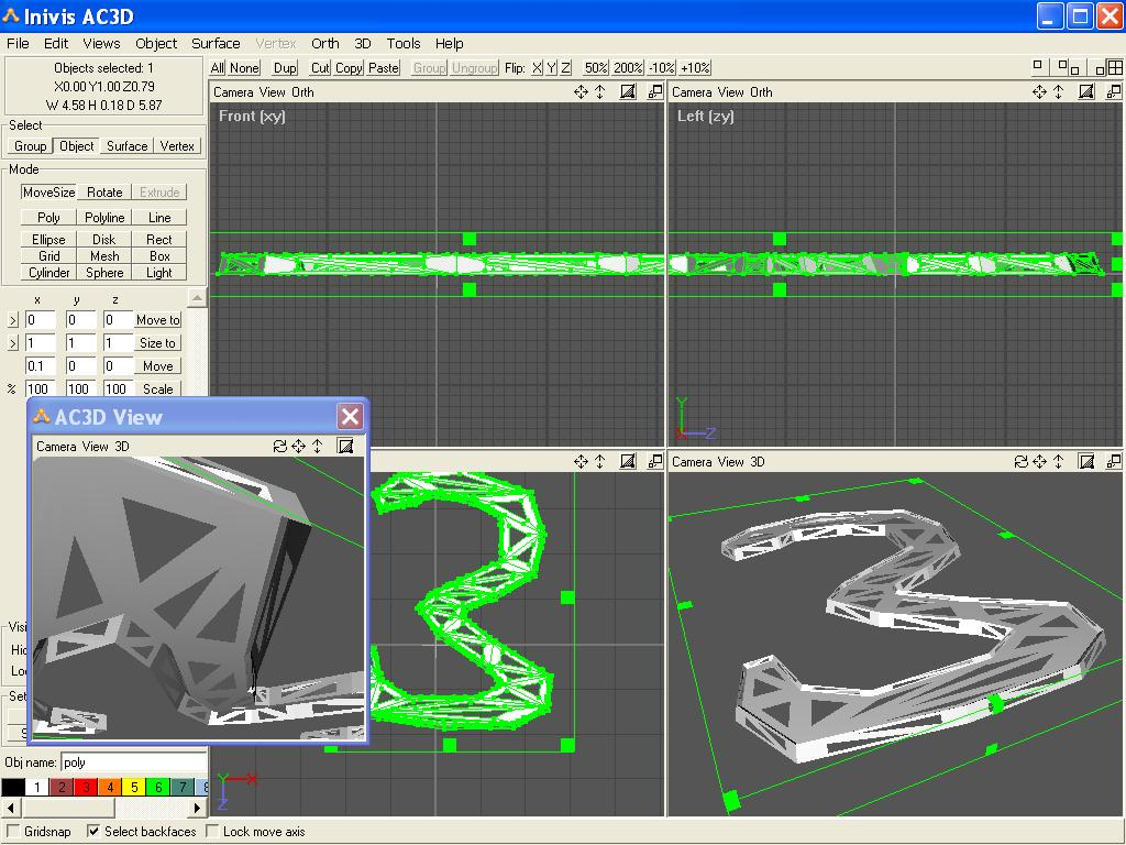 Ac3d An Affordable 3d Modeling Tools With Exports For