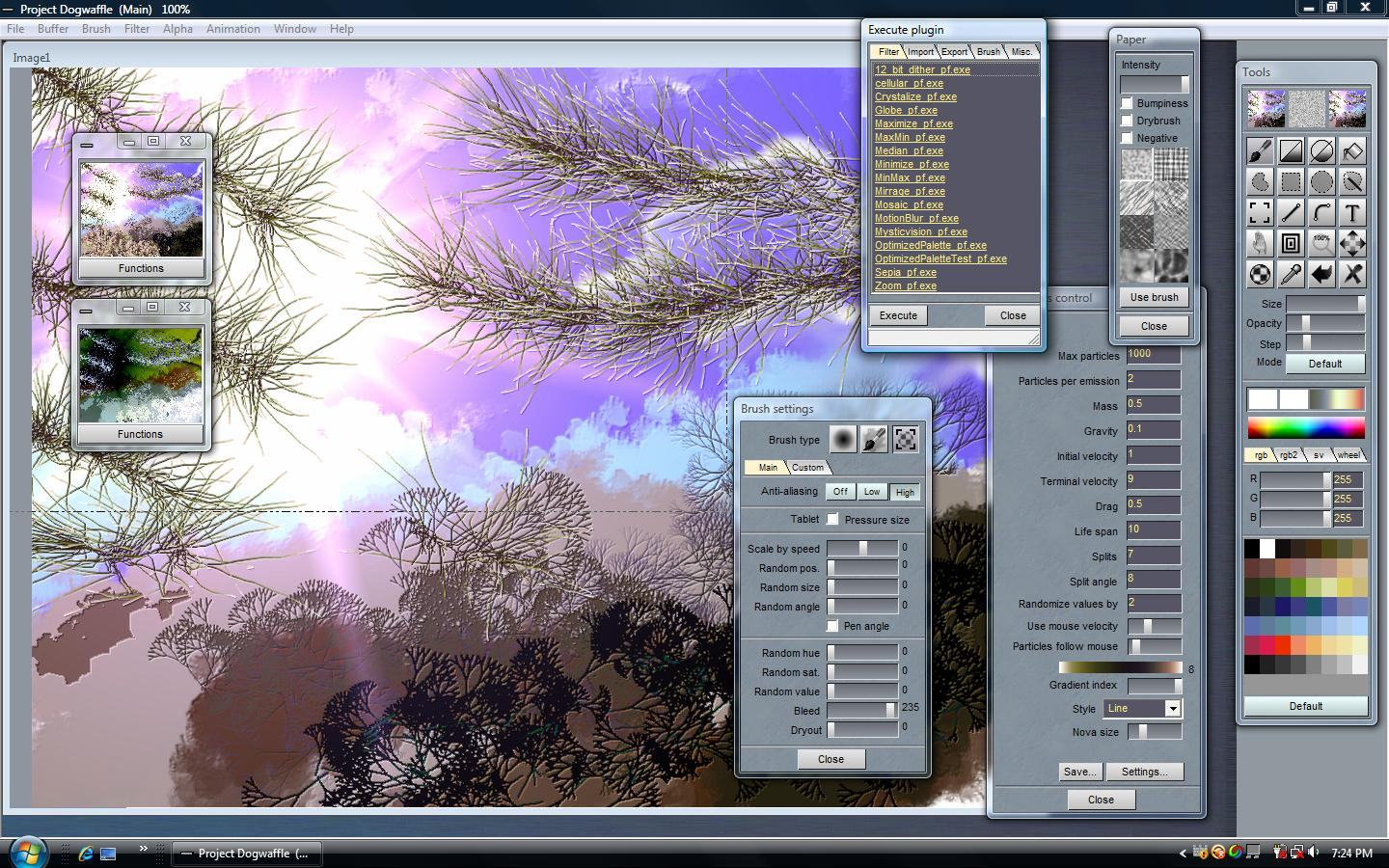 Project dogwaffle 1 2 the free pc paint and animation Paint software free download