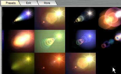 animated lens flares
