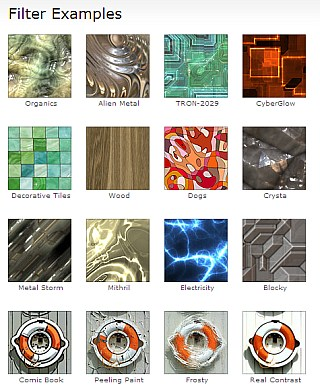 thousands of very special effect  filters