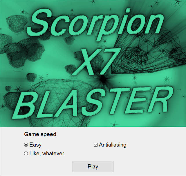 retro game, Scorpion X7 Baslter - the game