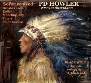Black Wolf, leader of                                               the Cheyenne