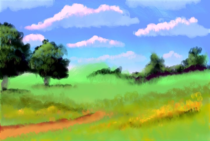 hills with orbicle brushes