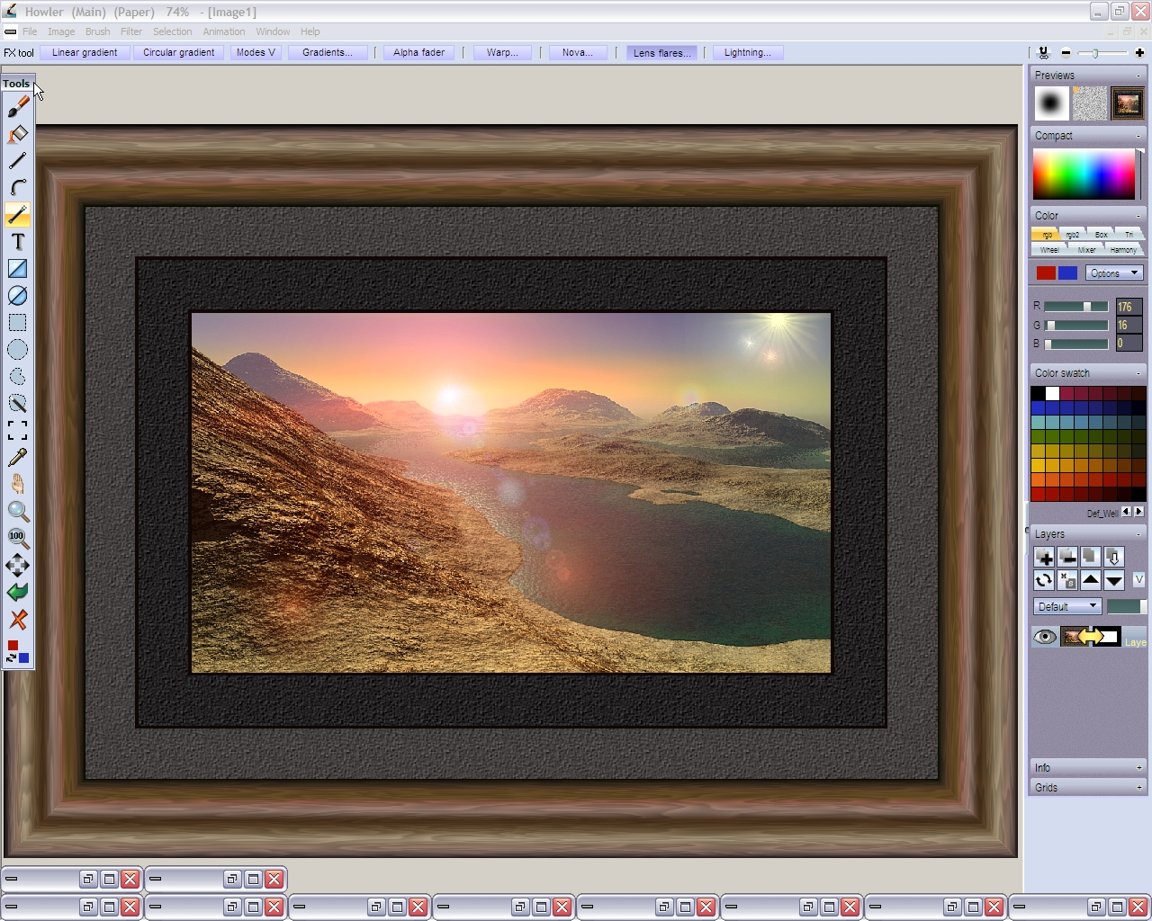 screenshot1 framing a 3dlandscape_done