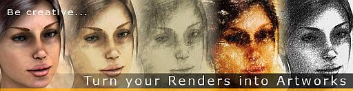 turn your 3d renders and photos into works of art